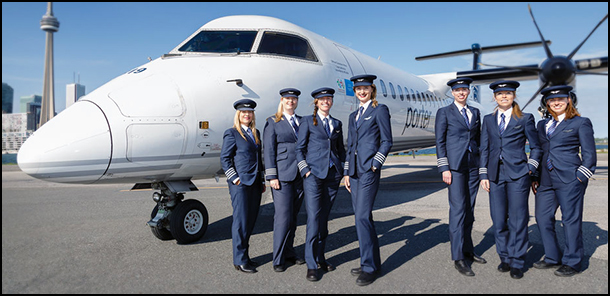 Photo of Porter Q400 and Female Crew